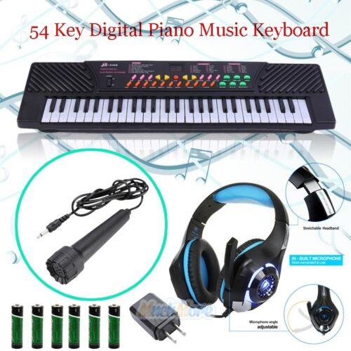54 Key Digital Music Piano Keyboard Portable Musical Instrument w/ Microphone US