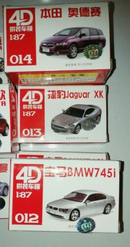 4D Model Kit Car Suitable for 1//87 OO HO Gauge 13  Different Styles
