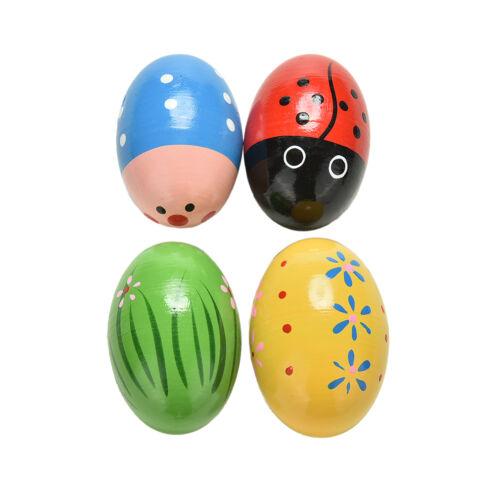 Holz Sand Eier Kinder Kinder Baby Bildungsinstrumente Musikspielzeug OTPI