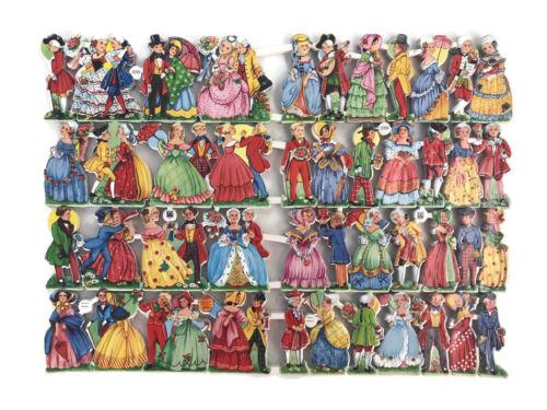 Vintage EAS Germany Die Cut Scrap Ganzbilder Oblaten 3096 Colonial Single Sheet