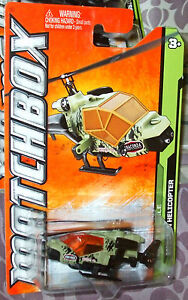 2012 MATCHBOX #101-120 LT GREEN ANACONDA MISSION HELICOPTER MBX JUNGLE