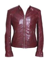 Rayman Maroon Men's Biker Style Retro Soft Nappa Leather Fashion Jacket