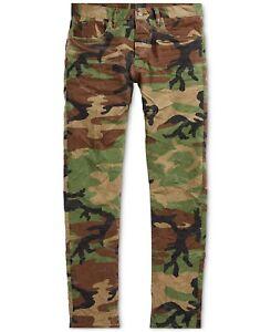 Polo-Ralph-Lauren-Men-Rugged-Vintage-Military-Army-Camo-Slim-Pants-Jeans