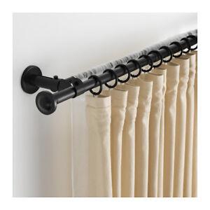 Bastoni Per Tende Ikea.Ikea Storslagen Set Bastone Per Tenda Doppio Nero 120 210 Cm Ebay