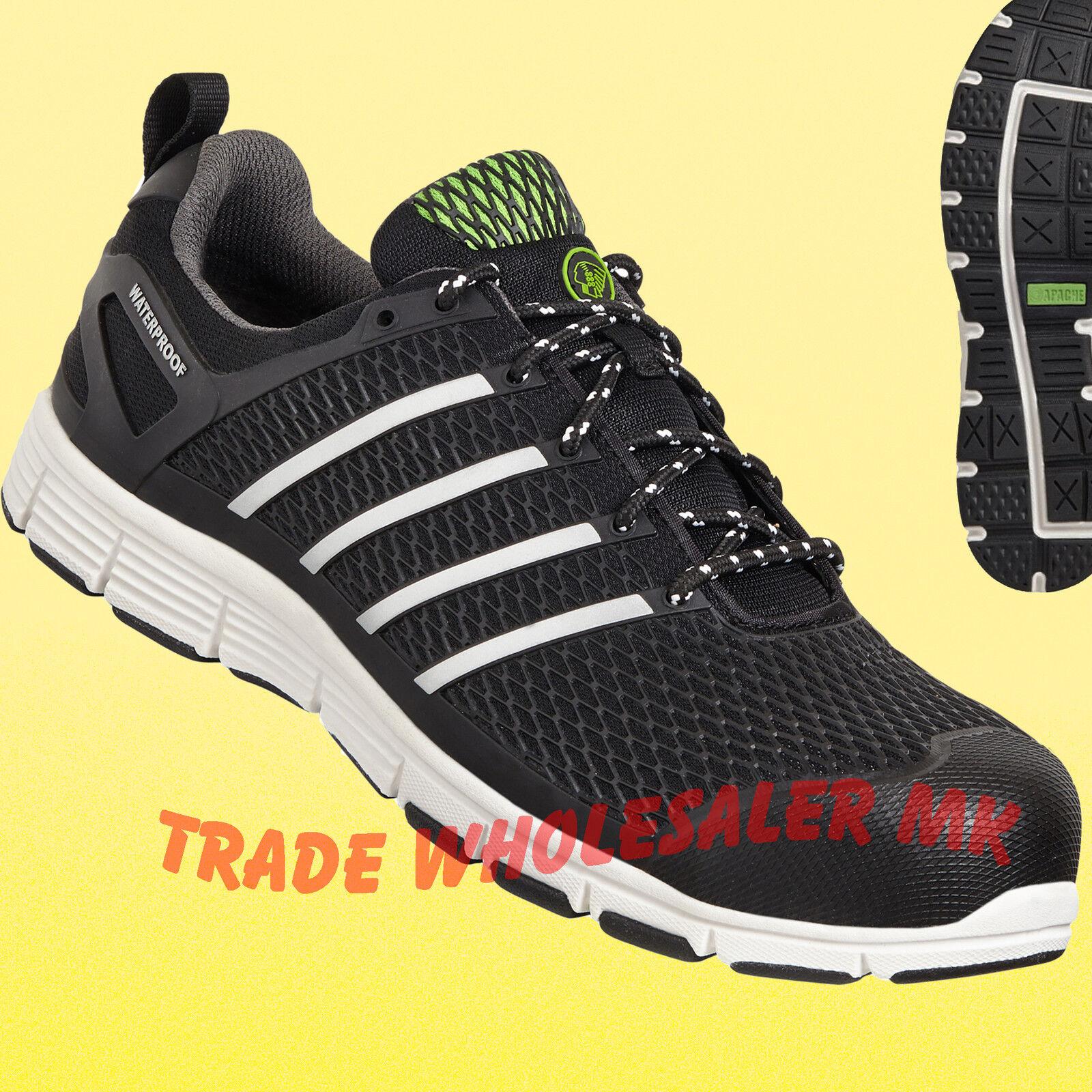 Apache Aluminium Motion Safety Trainer Shoe Lightweight Aluminium Apache Toe Cap Work Mens aacf11