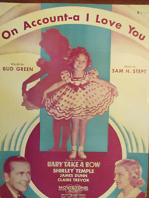Baby Take a Bow Vintage Shirley Temple Movie Poster
