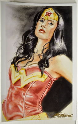 WONDER WOMAN Print HAND SIGNED by Artist Todd Tuttle w COA