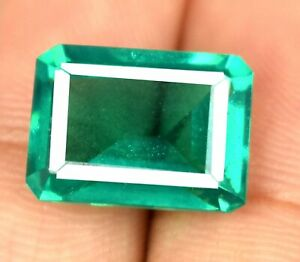 12.45 Ct Colombian Emerald Eye Clean Gems Natural Emerald Cut Certified Z5764