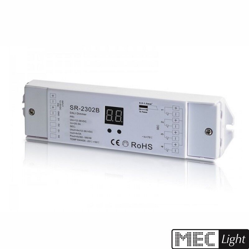 4 canali DALI LED dimmer 4-zone Ricevitore Radio Slave - - - 4x 5a (sr-2302b) 001d2d