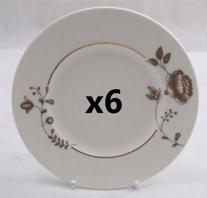 Villeroy-amp-and-Boch-GOLDEN-GARDEN-6-x-side-bread-plate-16cm-NEW