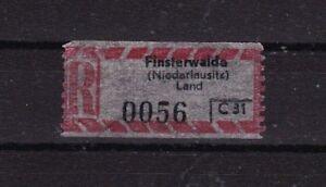 DDR Einschreiben-Gebühren zettel - Weinheim, Deutschland - DDR Einschreiben-Gebühren zettel - Weinheim, Deutschland