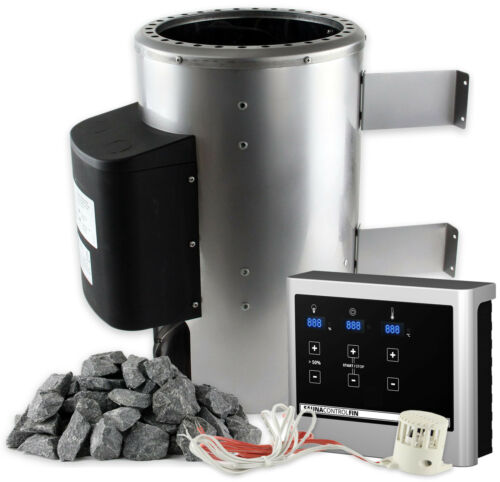 SULENO Saunaofen OULU 3,6 kW 230V Edelstahl Energiesparofen Saunasteine