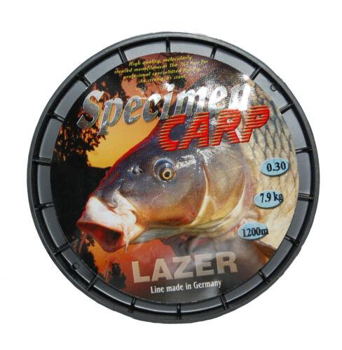 14 lb 27 lb 23 LB 17 LB environ 6.35 kg 1200 M Lazer Spécimen Carpe Ligne De Pêche 12 LB environ 12.25 kg environ 5.44 kg environ 10.43 kg environ 7.71 kg