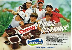 Smart Publicité Advertising 1982 Dessert Lactée Chamby De Chambourcy Driving A Roaring Trade Collectibles