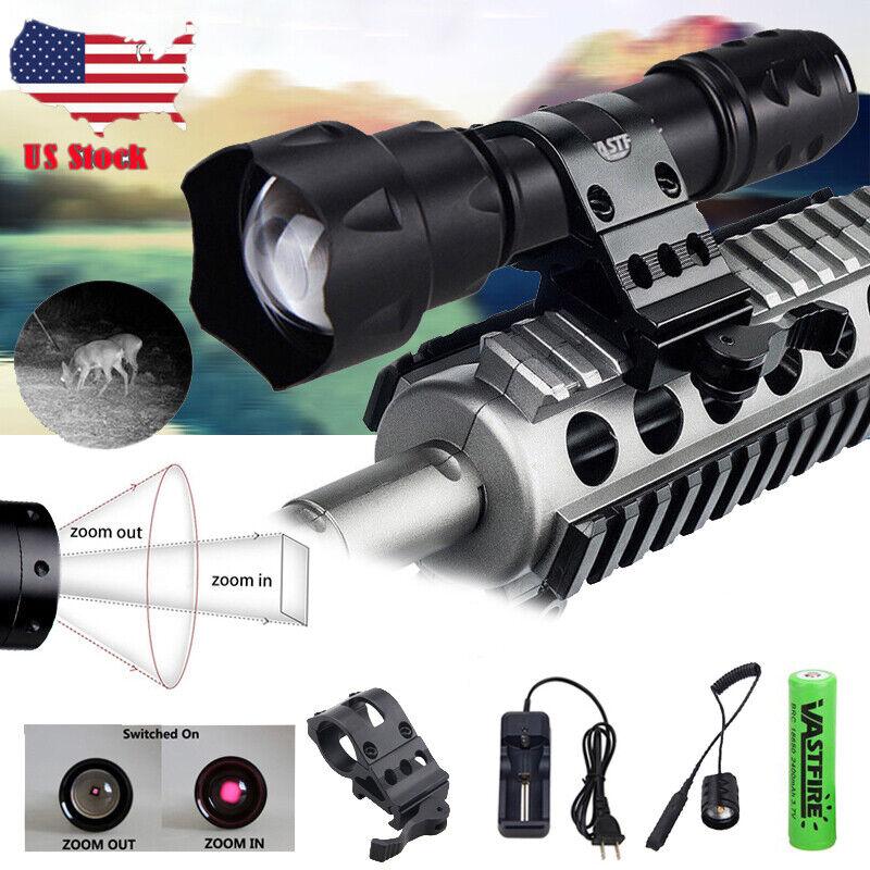 Zoom 940nm 10W LED Hunting Torch IR NV Night Vision Scope Lamp Lamping Gun Light