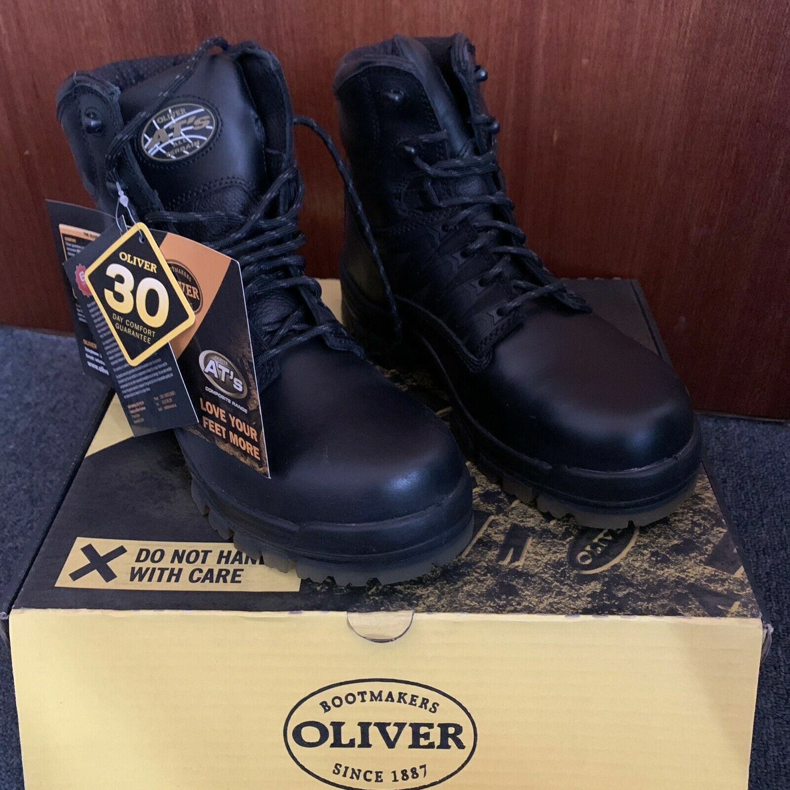 Oliver Safety Work Boots 45645C Safety Lace up Composite Toe AUS7.5 US8.5