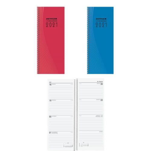 Vormerkbuch 2021 Tischkalender 29,7x10,8cm hoch Pultkalender 1 Woche = 2 Seite