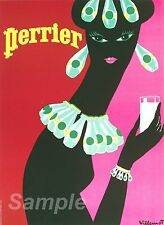 VINTAGE PERRIER ADVERTISING A4 POSTER PRINT