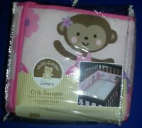 Child Of Mine Crib Bumper Set Fits Standard Crib Dancing Ballerina Monkey Pink