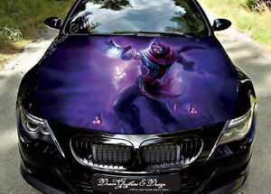manga car bonnet wrap decal full color graphics vinyl sticker 134 ebay. Black Bedroom Furniture Sets. Home Design Ideas