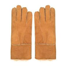 2016 Newest Men Winter Genuine Brown Sheepskin Leather Shearling Fur Warm Gloves