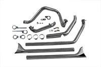 1970-1984 Harley Davidson Shovelhead True Dual Exhaust Pipes System Fishtail 36