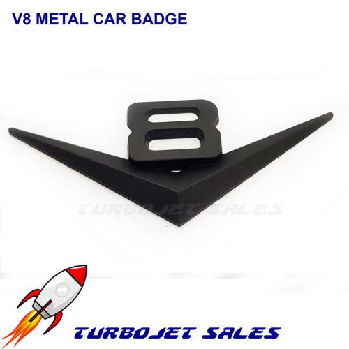Universel Haute Qualité Van Voiture Badge UK V8 noir voiture badge emblème métal