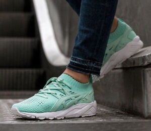 size 40 7a612 81acd Details about $150 Asics Tiger Gel Kayano Trainer Knit Lo Size 7.5 Mint  Green H7N1N Womens