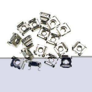 Lot25 M4*0.7//M5*0.8//M6*1.0//M8*1.25//M10*1.5 Retainer Cage Clip On Square Nuts