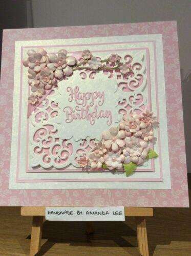 Sister Card 8x8 Handmade Personalised Birthday Anniversary Wife Retirement