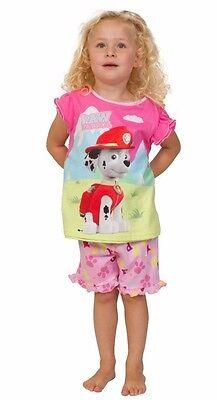 Girls Paw Patrol Short Pyjamas Four Way Nick Jr 1 to 7 Years