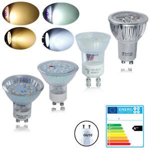 4-10x-GU10-7W-6W-5W-3W-LED-30-50W-Spotlight-lampes-SMD-economie-ampoule-Spot