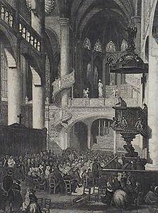 Large-Print-de-Paris-Saint-Etienne-Du-Mont-in-1866-Superb
