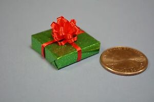 Miniature Christmas Present//Gift Dollhouse size,