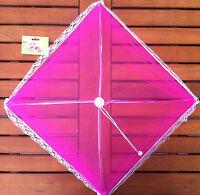 Fliegenschutz-haube Faltbar 30 Cm Pink Neu Camping Outdor