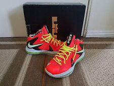 Nike Lebron 10 X P.S. Elite Total Crimson Fiberglass Volt Sz 9 xiv 14 xiii xii