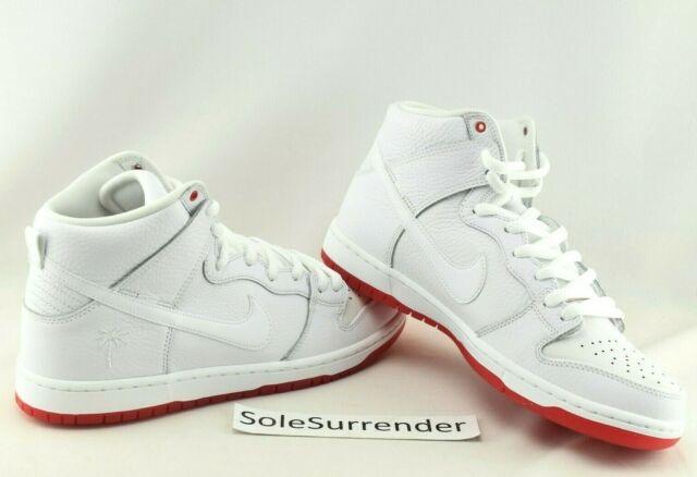 5f216db5bda42 Nike SB Zoom Dunk High Pro QS Kevin Bradley White Red Ah9613 116 Size 10