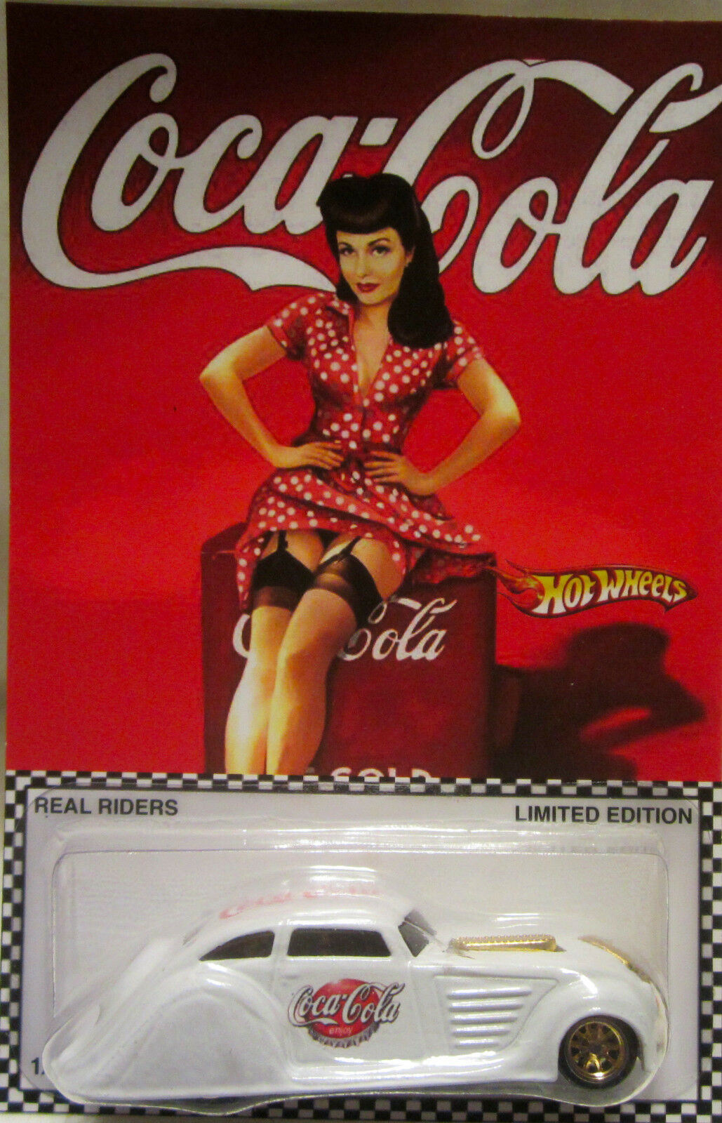 Hot Wheels CUSTOM '34 CHRYSLER AIRFLOW Coca-Cola Real Riders Limited 1 5 Made