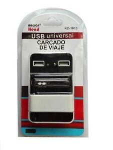 6931bfae86e La imagen se está cargando CARGADOR-UNIVERSAL-RED-PARA-CASA-BATERIA-2-USB-