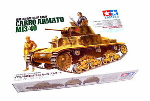 Tamiya-Military-Model-1-35-ITALIAN-CARRO-ARMATO-M13-40-Scale-Hobby-35296