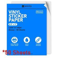 50 Glossy Stickerlabel Paper For Inkjet Amp Laser Printers 50 Glossy 85 X 11