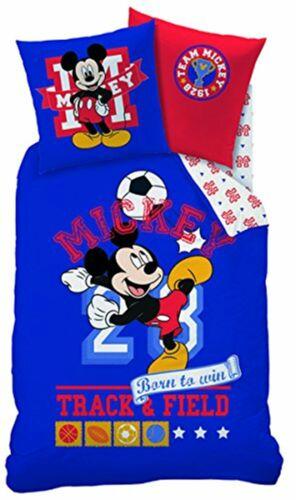 Bettwäsche Disney Mickey Sport 80 x 80 cm 135 x 200 cm 100/% Baumwolle