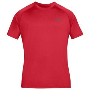 Under-Armour-Tech-camiseta-de-manga-corta-deportes-PIERCE-Gris-1228539-629