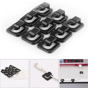 18pcs Self-adhesive Wire Fixed Clips Network Cables USB Line Holder Clamp L/&6
