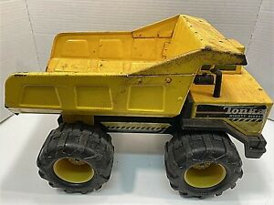 TONKA-Mighty-Diesel-Dump-Truck-Yellow-Metal-17-034-Long-Vintage-Classic