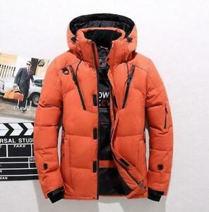 Mens-Down-Coat-Hooded-Jacket-Puffer-Winter-Parkas-Padded-Warm-Outwear-Casual-C15