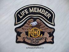 Harley Davidson  HOG  LIVE MEMBER BRUST- PATCH - SET   NEU!