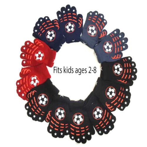 24-60 Kids Children Knit Magic Warm Winter Gloves Asst Colors Wholesale Lot