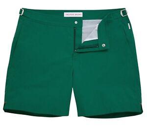 New-Orlebar-BROWN-BULLDOG-Juniper-Shorter-Length-Swim-Shorts-Trunk-Sz-38