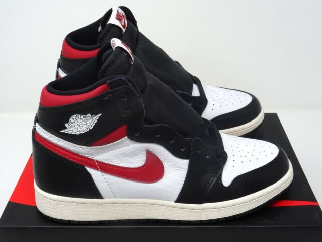 watch 7a77e d1762 Nike Air Jordan 1 Retro High GS Black Gym Red White UK 3 4 5 6 US